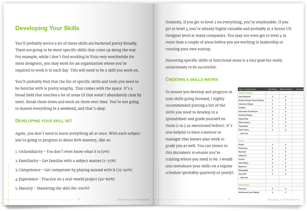 UXD book layout